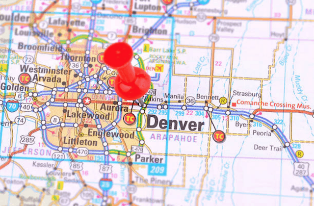 denver colorado map